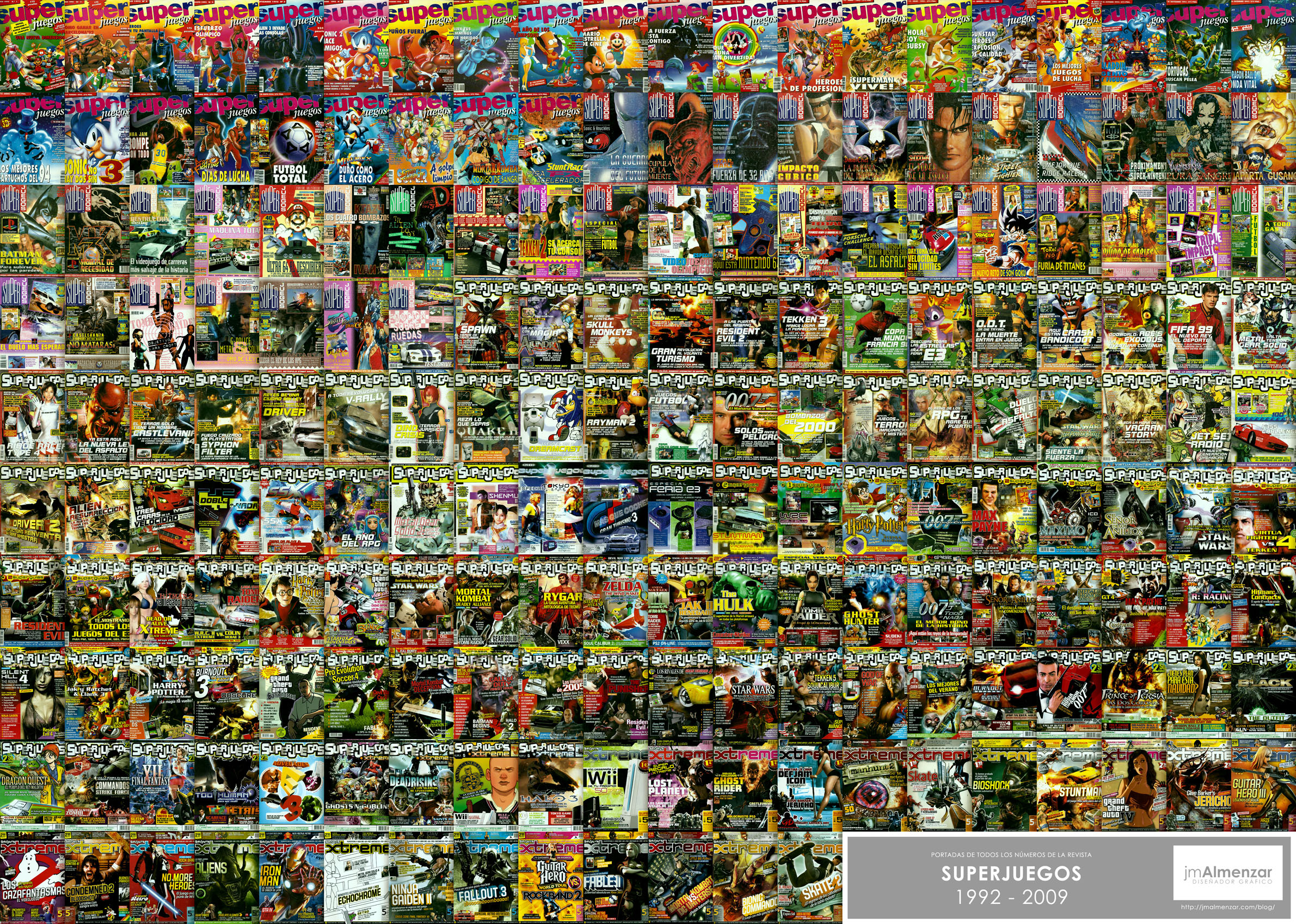Proyecto personal mural de portadas de la revista super for Club joven mural